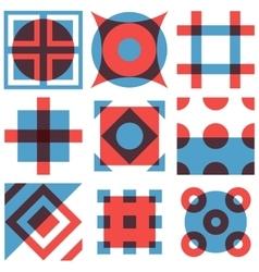 Geometric shapes patterns set vector image vector image