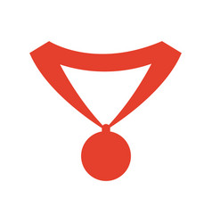 pictogram medal trophy winner sport icon vector image vector image