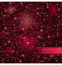 seamless glitter mosaic pink heart texture vector image vector image