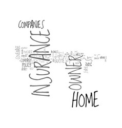 best home owner insurance quote text word cloud vector image vector image