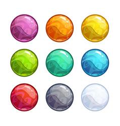 colorful bright bubbles set vector image