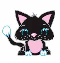 cute black cat vector image vector image