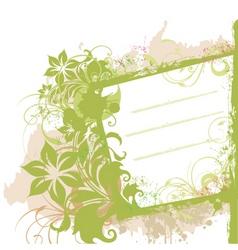 floral grunge side banner vector image vector image