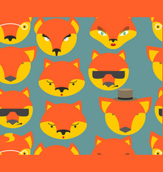 fox seamless pattern foxes ornament texture of vector image vector image