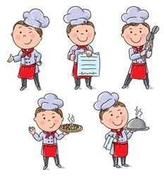 Kids chefs vector image vector image