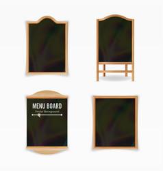 menu black board empty cafe menu set vector image vector image