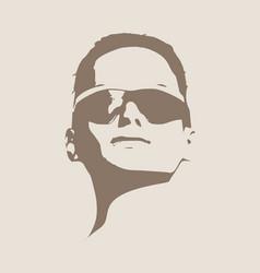 portrait of beautiful woman in black sunglasses vector image vector image