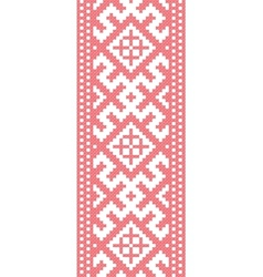 Russian embroidered pattern vector image