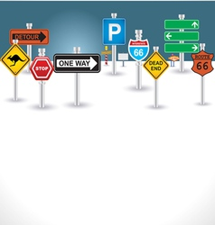 signs background vector image vector image