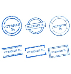 Vitamin B9 stamps vector image vector image