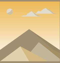 yellow mountains in the fog vector image vector image