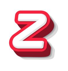 3d bold funny letter z heavy type for modern vector