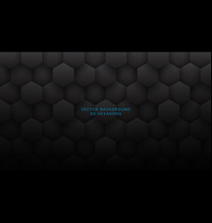 3d hexagons grid pattern technological dark gray vector
