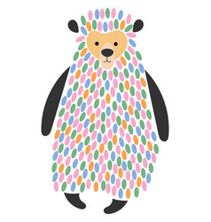 a cartoon bear stylized vector image
