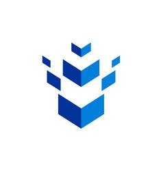 abstract building concept logo vector image