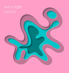 Abstract colourful paper cut 3d design vector