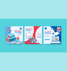 Ads design with watercolor painting book money vector