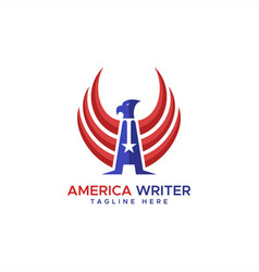 america writer eagle logo vector image
