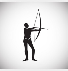 archer on white background vector image