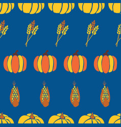 autumn background maize plant crop and vector image