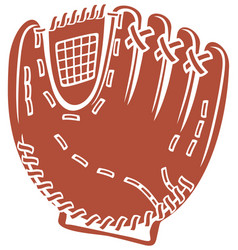 baseball glove icon vector image