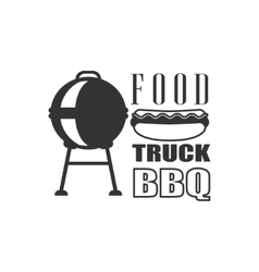 Bbq Fod Truck Label Design vector