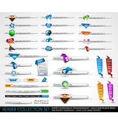 Big collection of headers and footers for your vector image