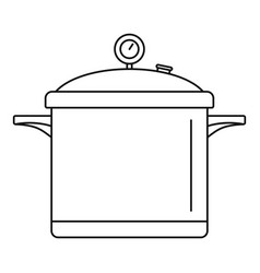 big cook saucepan icon outline style vector image