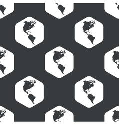 Black hexagon America pattern vector