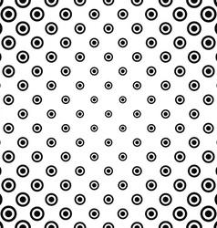 Black white seamless circle pattern vector image
