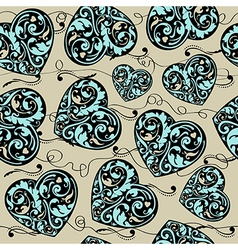 Blue black and beige pattern vector image