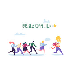 business competition concept flat characters vector image