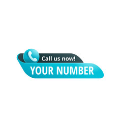 Call us now catchy web button vector