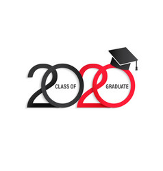 Class 2020 elegant card vector