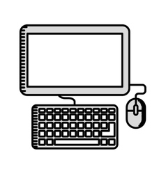 computer monitor isolated icon design vector image