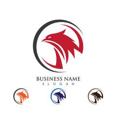falcon wing logo template icon design vector image