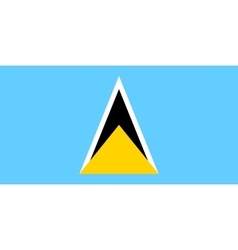 Flag of Saint Lucia in correct size color vector