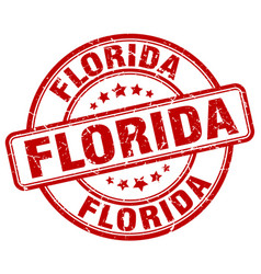florida stamp vector image