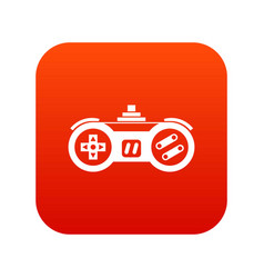 gamepad icon digital red vector image