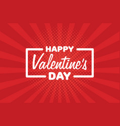 greeting card happy valentines day lettering vector image
