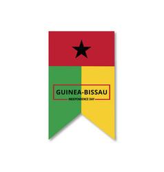 guinea bissau celebtraing independence day vector image