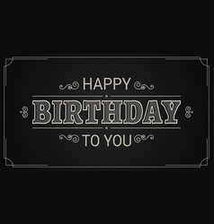 Happy birthday card birthday vintage banner sign vector