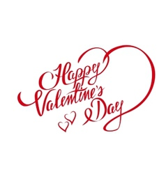 Happy Valentines Day design element with stylish vector image