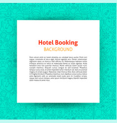 hotel booking paper template vector image