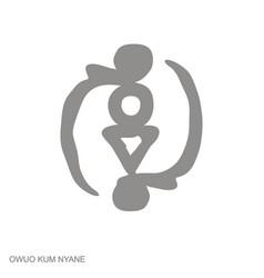 Icon with adinkra symbol owuo kum nyane vector