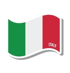 italy patriotic flag isolated icon vector image