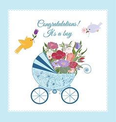 Its a Boy Greeting Card vector