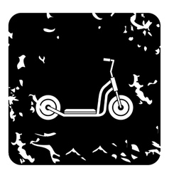 Kick scooter icon grunge style vector