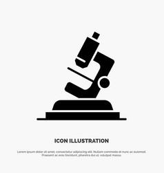 Lab microscope science zoom solid black glyph icon vector
