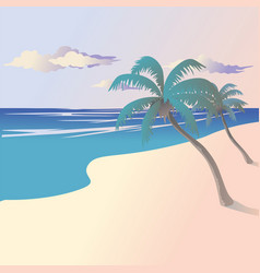 landscape coast vector image